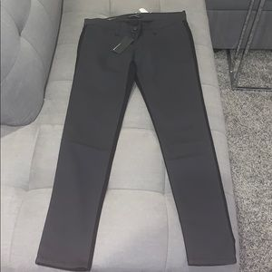 TWO TONE JEANS - BLACK AND GREY